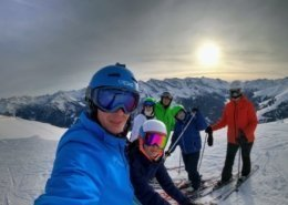 cu gasca la schi in austria